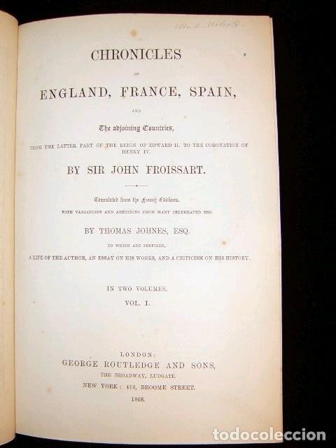 Libros antiguos: CHRONICLES OF ENGLAND, FRANCE, SPAIN,... 2 vol., 1868. FROISSART/JHONES/ROUTLEDGE. 75 LITOGRAFIAS - Foto 18 - 276806868