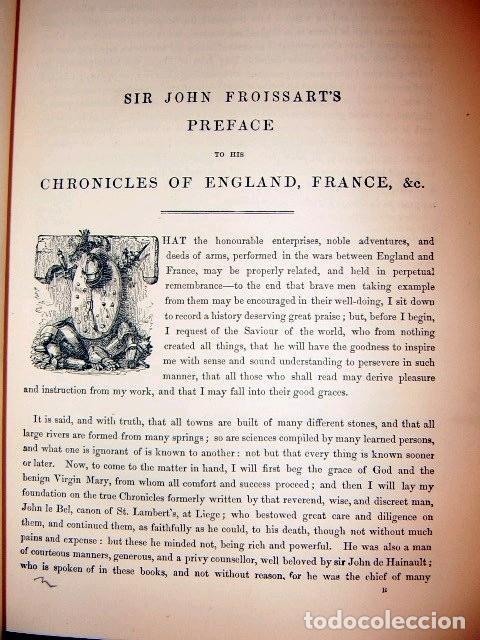 Libros antiguos: CHRONICLES OF ENGLAND, FRANCE, SPAIN,... 2 vol., 1868. FROISSART/JHONES/ROUTLEDGE. 75 LITOGRAFIAS - Foto 22 - 276806868