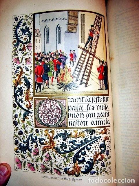 Libros antiguos: CHRONICLES OF ENGLAND, FRANCE, SPAIN,... 2 vol., 1868. FROISSART/JHONES/ROUTLEDGE. 75 LITOGRAFIAS - Foto 24 - 276806868