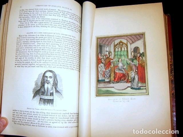 Libros antiguos: CHRONICLES OF ENGLAND, FRANCE, SPAIN,... 2 vol., 1868. FROISSART/JHONES/ROUTLEDGE. 75 LITOGRAFIAS - Foto 26 - 276806868