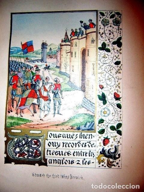 Libros antiguos: CHRONICLES OF ENGLAND, FRANCE, SPAIN,... 2 vol., 1868. FROISSART/JHONES/ROUTLEDGE. 75 LITOGRAFIAS - Foto 28 - 276806868