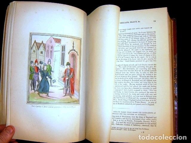 Libros antiguos: CHRONICLES OF ENGLAND, FRANCE, SPAIN,... 2 vol., 1868. FROISSART/JHONES/ROUTLEDGE. 75 LITOGRAFIAS - Foto 32 - 276806868