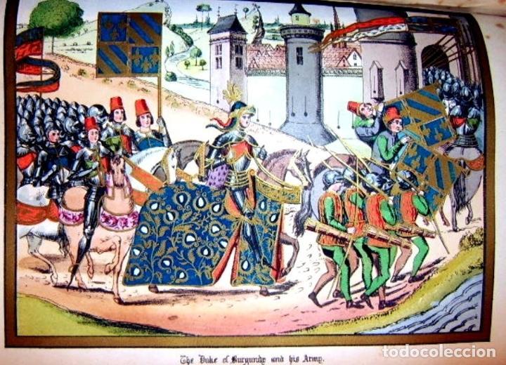Libros antiguos: CHRONICLES OF ENGLAND, FRANCE, SPAIN,... 2 vol., 1868. FROISSART/JHONES/ROUTLEDGE. 75 LITOGRAFIAS - Foto 35 - 276806868