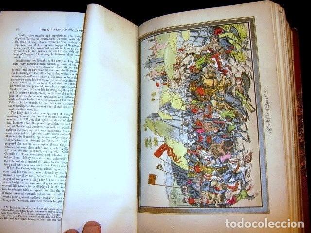 Libros antiguos: CHRONICLES OF ENGLAND, FRANCE, SPAIN,... 2 vol., 1868. FROISSART/JHONES/ROUTLEDGE. 75 LITOGRAFIAS - Foto 36 - 276806868