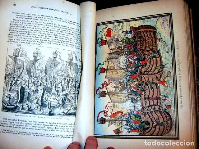 Libros antiguos: CHRONICLES OF ENGLAND, FRANCE, SPAIN,... 2 vol., 1868. FROISSART/JHONES/ROUTLEDGE. 75 LITOGRAFIAS - Foto 37 - 276806868