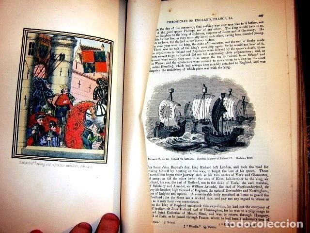Libros antiguos: CHRONICLES OF ENGLAND, FRANCE, SPAIN,... 2 vol., 1868. FROISSART/JHONES/ROUTLEDGE. 75 LITOGRAFIAS - Foto 58 - 276806868