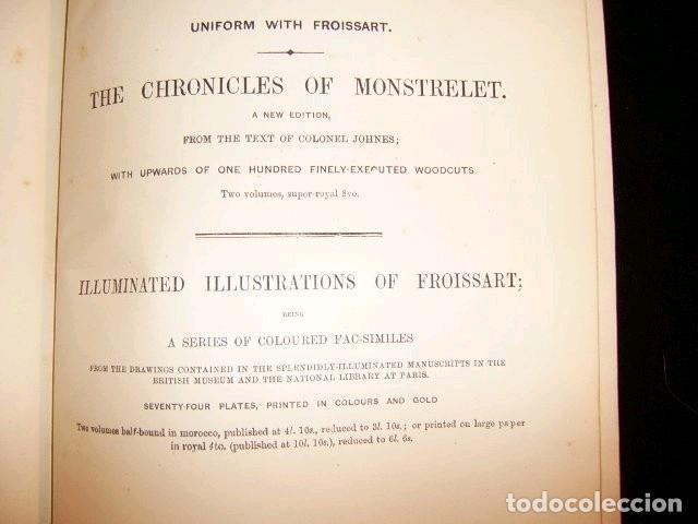 Libros antiguos: CHRONICLES OF ENGLAND, FRANCE, SPAIN,... 2 vol., 1868. FROISSART/JHONES/ROUTLEDGE. 75 LITOGRAFIAS - Foto 66 - 276806868