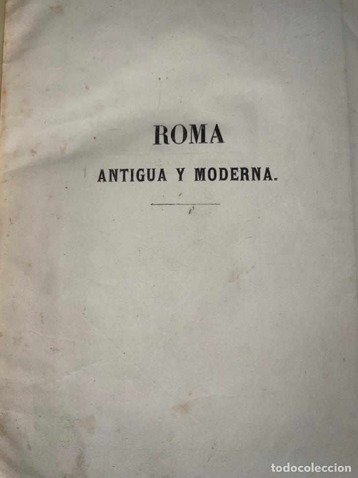 Libros antiguos: L- Roma Antigua y Moderna. Mary Lafon, 1857. La tapa del libro no es la original. - Foto 4 - 277417358