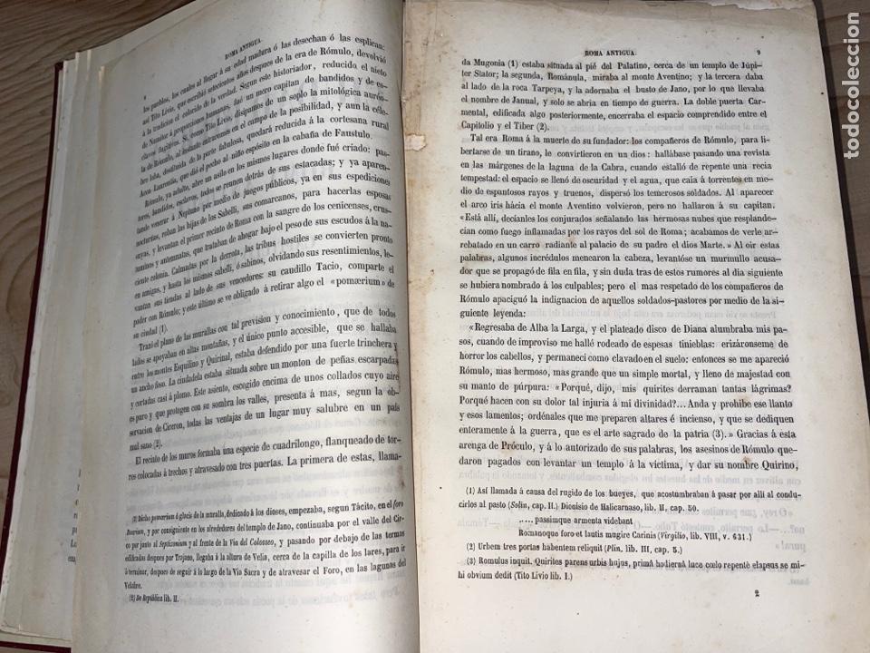 Libros antiguos: L- Roma Antigua y Moderna. Mary Lafon, 1857. La tapa del libro no es la original. - Foto 7 - 277417358