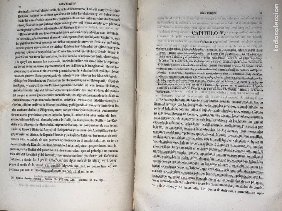Libros antiguos: L- Roma Antigua y Moderna. Mary Lafon, 1857. La tapa del libro no es la original. - Foto 10 - 277417358