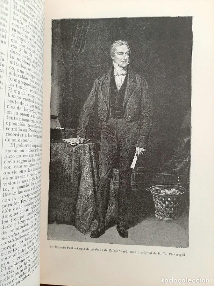 Libros antiguos: HISTORIA UNIVERSAL G. ONCKEN TOMO 35 EPOCA RESTAURACIÓN Y REVOLUCIÓN .ED. MONTANER Y SIMON 1921 - Foto 3 - 277690603