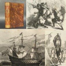 Libros antiguos: AÑO 1855 - ESPAÑA ARABE - HISTORIA - GRAN CANTIDAD DE ILUSTRACIONES - PLENA PIEL. Lote 278172928
