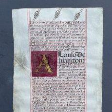 Libros antiguos: S. XVI - MANUSCRITO SOBRE PERGAMINO - CÓDICE - CALIGRAFIA - VITELA -. Lote 278337138