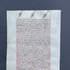 Libros antiguos: S. XVI - MANUSCRITO SOBRE PERGAMINO - CÓDICE - CALIGRAFIA - VITELA -. Lote 278337198