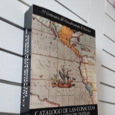 Libros antiguos: CATALOGO CONSULTAS CONSEJO DE INDIAS,EPOCA COLONIAL. Lote 279337173