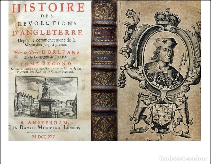 AÑO 1714: HISTORIA DE LAS REVOLUCIONES INGLATERRA. CON ILUSTRACIONES DE REYES (Libros antiguos (hasta 1936), raros y curiosos - Historia Antigua)