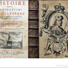 Livres anciens: AÑO 1714: HISTORIA DE LAS REVOLUCIONES INGLATERRA. CON ILUSTRACIONES DE REYES. Lote 286241143