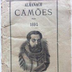 Libros antiguos: ALMANACH CAMÕES PARA 1883. EDITORA EMPREZA DO SEMANÁRIO O CAMÕES. EN PORTUGUÉS. MUY ESCASO. Lote 287330748