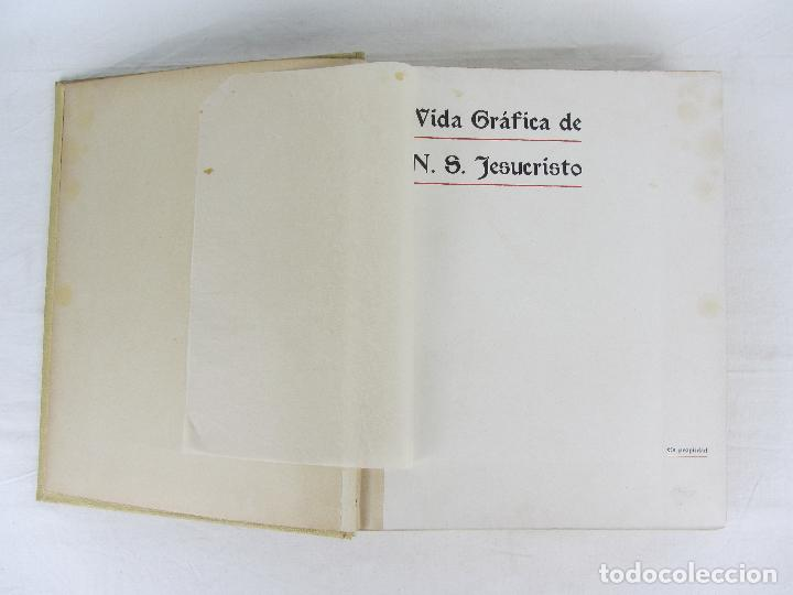 """Libros antiguos: """"Vida Gráfica de Nuestro Señor Jesucvristo"""" por D. Ramón B. Girón Barcelona 1904 - 1905 - Foto 5 - 288716413"""