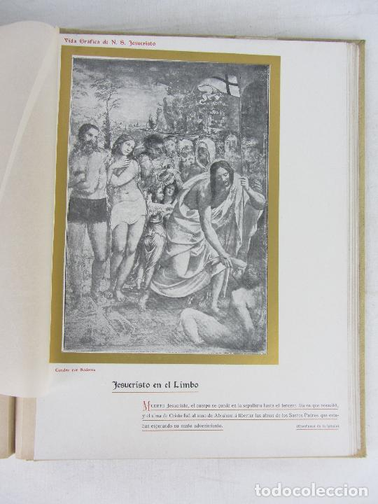 """Libros antiguos: """"Vida Gráfica de Nuestro Señor Jesucvristo"""" por D. Ramón B. Girón Barcelona 1904 - 1905 - Foto 10 - 288716413"""