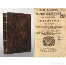 Libros antiguos: AÑO 1816 - ANTONIO DE NEBRIJA - GRAMATICA - LEBRIJA - SEVILLA - DE INSTITUTIONE GRAMMATICAE. Lote 289219088