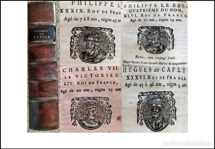 AÑO 1751: HISTORIA DE FRANCIA. CON MULTITUD DE VIÑETAS DE REYES. LIBRO DEL SIGLO XIX. (Libros antiguos (hasta 1936), raros y curiosos - Historia Antigua)