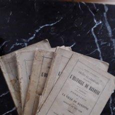 Libros antiguos: HENRY POYDENOT. HISTOIRE DE BAYONNE. HISTORIA DE BAYONA. PAIS VASCO.. Lote 294809558