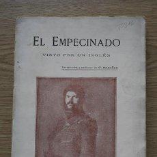 Libros antiguos: EMPECINADO VISTO POR UN INGLÉS (EL). TRADUCCIÓN Y PRÓLOGO DE GRAGORIO MARAÑÓN.. Lote 17284855