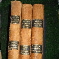 Libros antiguos: 1927. 3 TOMOS DE LAS LUCHAS FRATRICIDAS EN ESPAÑA. PIEL. OCASION. ALFONSO DANVILA. Lote 30198245