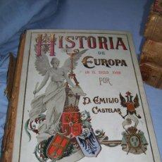 Libros antiguos: HISTORIA DE EUROPA EN ELSIGLO XVIIII POR D. EMILIO CASTELAR. Lote 25942369