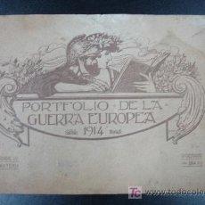 Libros antiguos: PORTFOLIO DE LA GUERRA EUROPEA 1914. APAISADO. 34 PÁG. 15,5 CM.. Lote 20450272