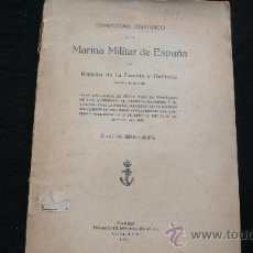 Libros antiguos: COMPENDIO HISTÓRICO DE LA MARINA MILITAR DE ESPAÑA RAMÓN DE LA FUENTE Y HERRERA 1921. Lote 24042690