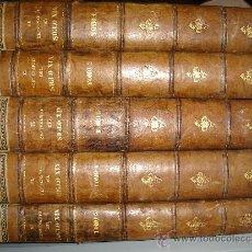 Libros antiguos: 1886,EL CENTENARIO DEL SIGLO XIX,EMILIO CASTELAR,BARCELONA,MARIANO SOLÁ,ESPECTACULAR,5 TOMOS,!!!. Lote 219911945