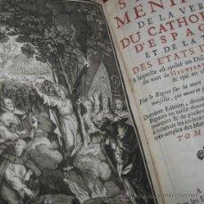 Libros antiguos: SATYRE MENIPPÉE DE LA VERTU DU CATHOLICON D'ESPAGNE, 1711-1714. TRES TOMOS. COLECCIÓN COMPLETA. Lote 28427337