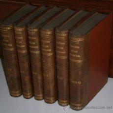 Libros antiguos: HISTORIA DE LOS GIRONDINOS 6T POR ALFONSO DE LAMARTINE DE IMPR. GABRIEL GIL EN MADRID S/F (1850). Lote 28753235