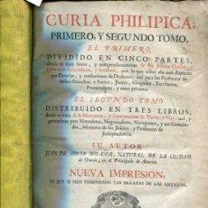 Libros antiguos: 1783: CURIA PHILIPICA. Lote 30504588
