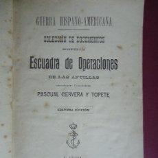 Libros antiguos: GALICIA.FERROL.CUBA.'DOCUMENTOS ESCUADRA DE OPERACIONES DE LAS ANTILLAS' POR P.CERVERA Y TOPETE 1900. Lote 30564106
