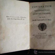 Libros antiguos: 1788-CONSPIRACIÓN DE LOS ESPAÑOLES EN VENECIA, EN 1618.ESPAÑA.ITALIA. Lote 32720384
