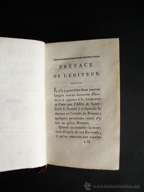 Libros antiguos: 1788-CONSPIRACIÓN DE LOS ESPAÑOLES EN VENECIA, EN 1618.ESPAÑA.ITALIA - Foto 3 - 32720384