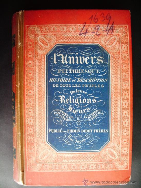 1850-HISTORIA DE ITALIA.UNIVERSO PINTORESCO.FIRMIN DIDOT.PARÍS (Libros antiguos (hasta 1936), raros y curiosos - Historia Moderna)