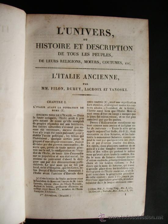 Libros antiguos: 1850-HISTORIA DE ITALIA.UNIVERSO PINTORESCO.FIRMIN DIDOT.PARÍS - Foto 5 - 32850064