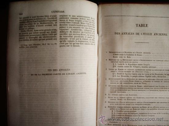 Libros antiguos: 1850-HISTORIA DE ITALIA.UNIVERSO PINTORESCO.FIRMIN DIDOT.PARÍS - Foto 8 - 32850064
