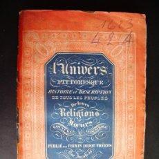 Libros antiguos: 1842-HISTORIA DE INGLATERRA.ENGLAND.UNIVERSO PINTORESCO.FIRMIN DIDOT.PARÍS. Lote 32850092