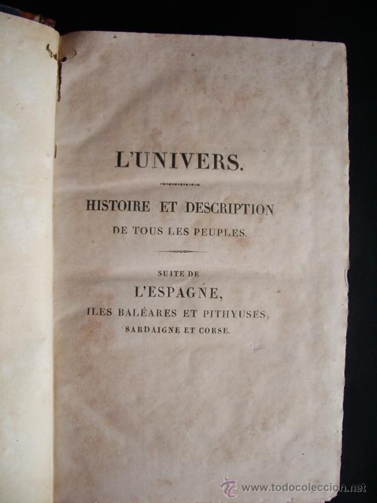 Libros antiguos: 1847-HISTORIA DE ESPAÑA.UNIVERSO PINTORESCO.FIRMIN DIDOT.PARÍS - Foto 4 - 32914191