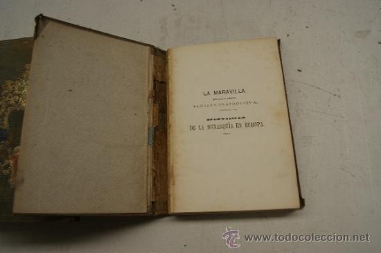 Libros antiguos: 4 tomos, Historia de la monarquia en Europa. 1860. - Foto 4 - 35482759