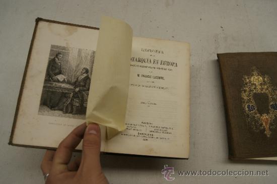 Libros antiguos: 4 tomos, Historia de la monarquia en Europa. 1860. - Foto 9 - 35482759