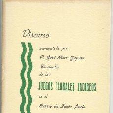 Libros antiguos: LIBRO CUADERNO JUEGOS FLORALES JACOBEOS BARRIO SANTA LUCIA CARTAGENA MURCIA ,OPUSCULO 16 PAGINAS,AÑ. Lote 35638418