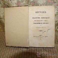 Libros antiguos: 2629- OEUVRES POSTHUMES RELIGIEUSES HISTORIQUES. ALEXANDRE DE STOURDZA. EDIT. DENTU 1859.. Lote 36023623