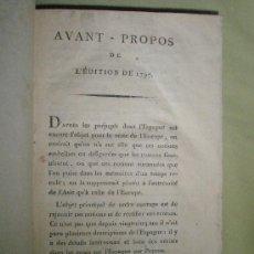 Libros antiguos: BOURGOING. TABLEAU DE L´ÉSPAGNE MODERNE AVEC QUELQUES CORRECTIONS, EL DES AUGMENTATIONS QUI CONDUISE. Lote 36082628