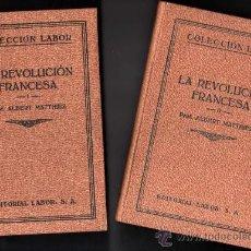 Libros antiguos: 1935 - LA REVOLUCION FRANCESA - ALBERT MATTHIEZ - 3 TOMOS - 16 LAMINAS POR TOMO - LABOR. Lote 36103850